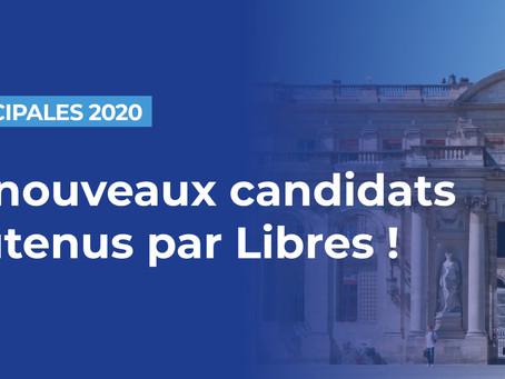 86 nouveaux candidats soutenus par Libres !