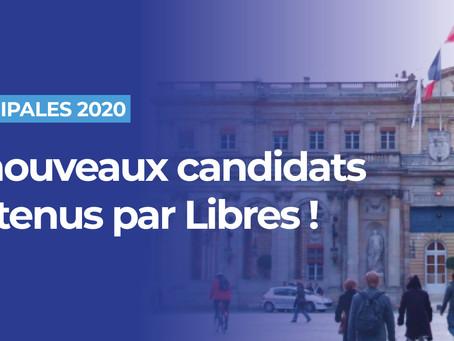 Municipales : les 55 nouveaux candidats soutenus par Libres !