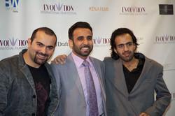 Iyad Hajjaj (middle)