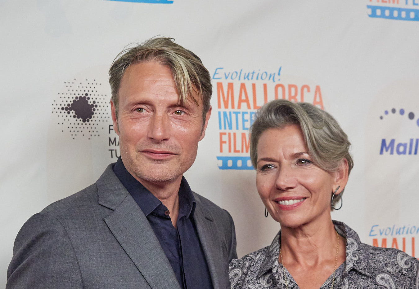 Mads with wife Hanne Mikkelsen