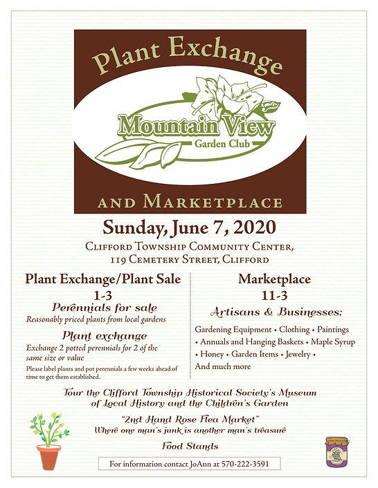 Mt View Garden Club plant exchange Flyer