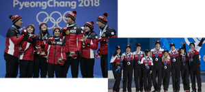 Kaetlyn Osmond and Team Canada on the podiums at the 2014 and 2018 Olympics