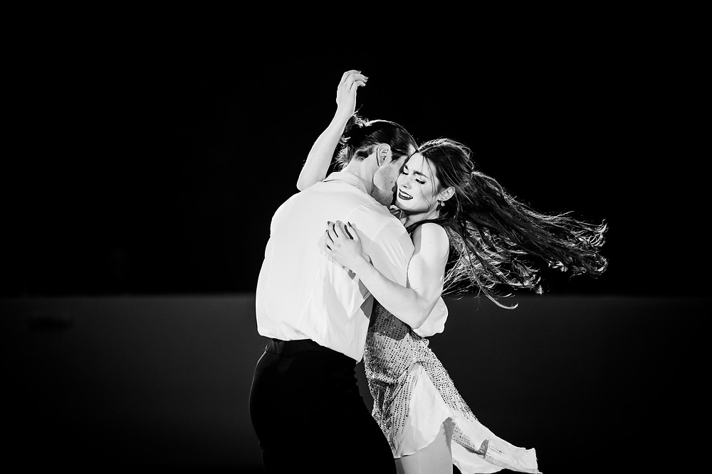 Danielle's photo of Canadian ice dancers Laurence Fournier Beaudry and Nikolai Sorensen and 2019 Canadian Nationals