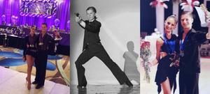Daniel Tsarik ballroom dancing with former partner Victoria Gribman