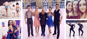 Sasha Fear with sister Lilah Fear and ice dancers Torvill and Dean