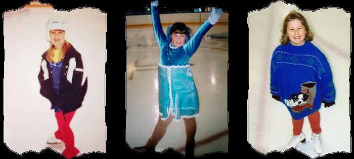 Danielle Earl ice skating as a child in Nova Scotia, Canada