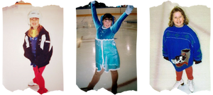 Danielle Earl ice skating as a child in Nova Scotia, Canada
