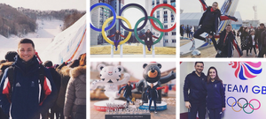 Lewis Gibson and Lilah Fear at the 2018 PyeongChang Winter Olympics