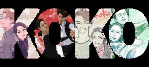Misato Komatsubara and Tim Koleto Team KoKo fan art