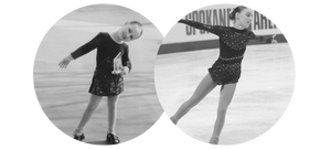 Courtney Hicks figure skating as a young girl