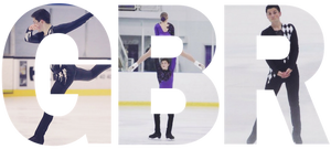 Lewis Gibson as a teenager figure skating