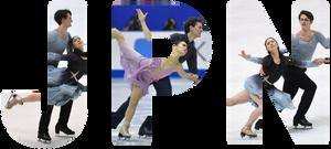 Tim Koleto and Misato Komatsubara representing Japan in ice dance