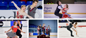 Ellie Fisher skating with ice dance partner Simon-Pierre Malette-Paquette