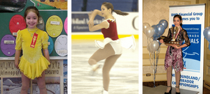 Kaetlyn Osmond as a young figure skater in her childhood