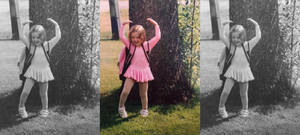 Sasha Fear as a ballerina as a young girl