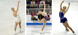 Courtney Hicks figure skating on the ice