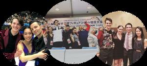 Misato Komatsubara and Tim Koleto with their Montreal Gadbois ice dance family
