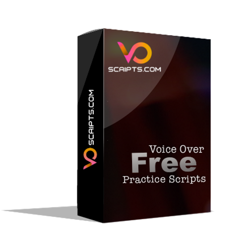 Free VO Practice Scripts - Enter FREE at checkout