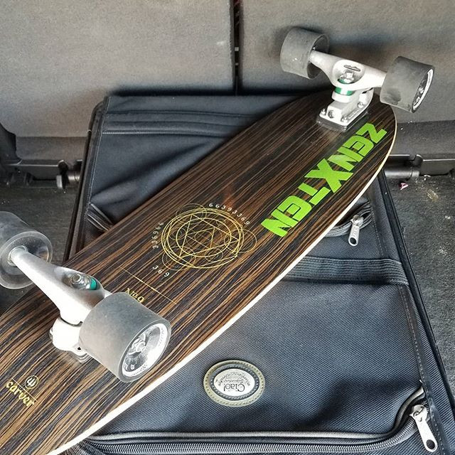 cocoa beach or bust  #carver__#longboard