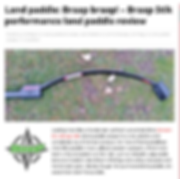 Performance Land Paddle Review. The most innovative land paddle availble.