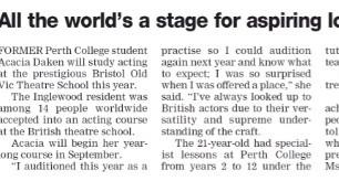 All the world's a stage for aspiring local actor