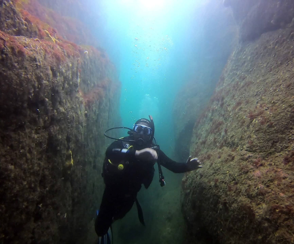 Learning to dive in Cork Ireland