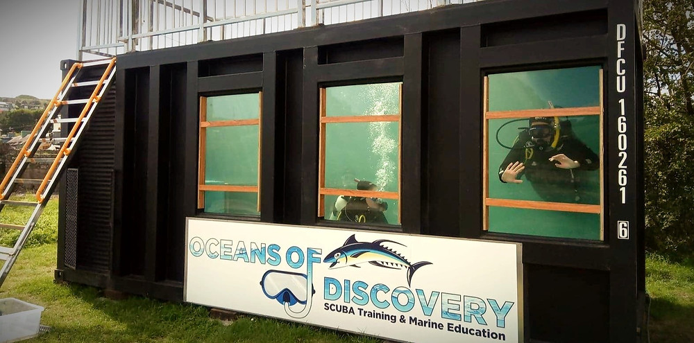 Scuba diving pool in Cork Ireland