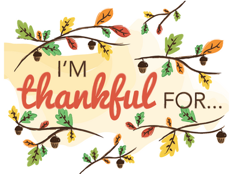 It's Time To Be Thankful!