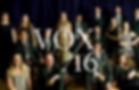 Members of a choir with the name Vox16 superimposed over the image