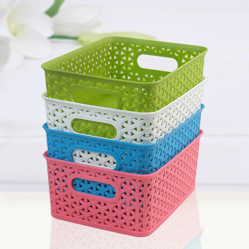 Decorative Storage Basket With Lid, Small