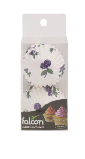200-Piece Floral Cake Cup Multicolor