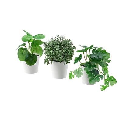 FEJKA Artificial Potted Plant Pot, Set of 3, In/Outdoor Green 6 cm - IKEA