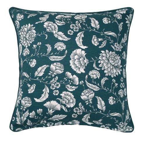IDALINNEA Cushion Cover, Blue/White/Floral patterned 50x50 cm - IKEA