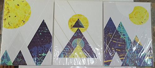 Modern Abstract Geometry Prints Posters Pictures Framed Artworks by Mulbess