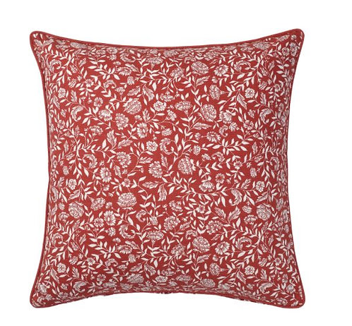 EVALOUISE Cushion Cover, Red/White/Floral Patterned 50x50 cm - IKEA