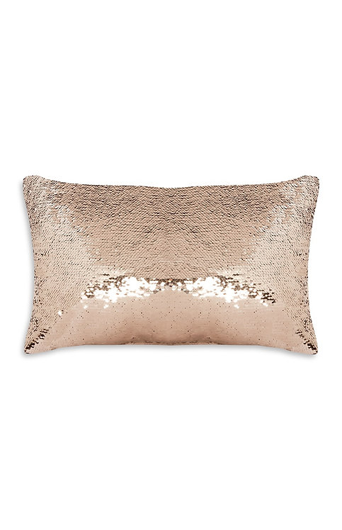 Copper Oblong Sequin Cushion with insert