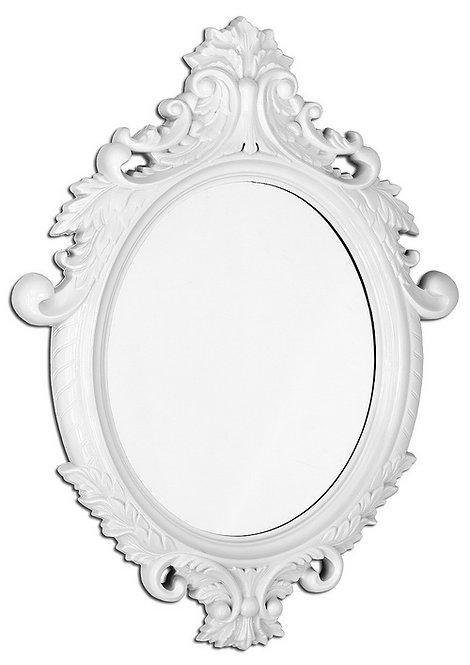 Vintage White Oval Large Mirror
