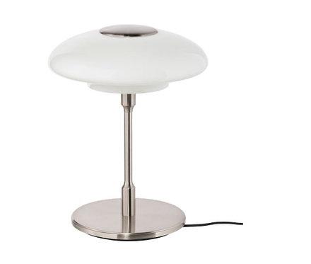 TÄLLBYN Table lamp, nickel-plated/opal white glass 40 cm by IKEA