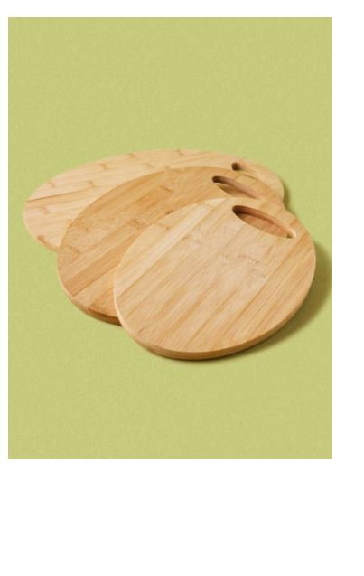 Bamboo Chopping board 3 piece Oval by Noon East
