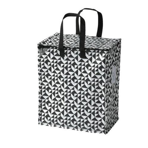 KNALLA Bag, Black/White 47Litres - IKEA