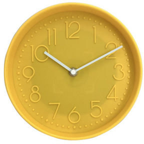 Yellow Round Wall Clock by George Home