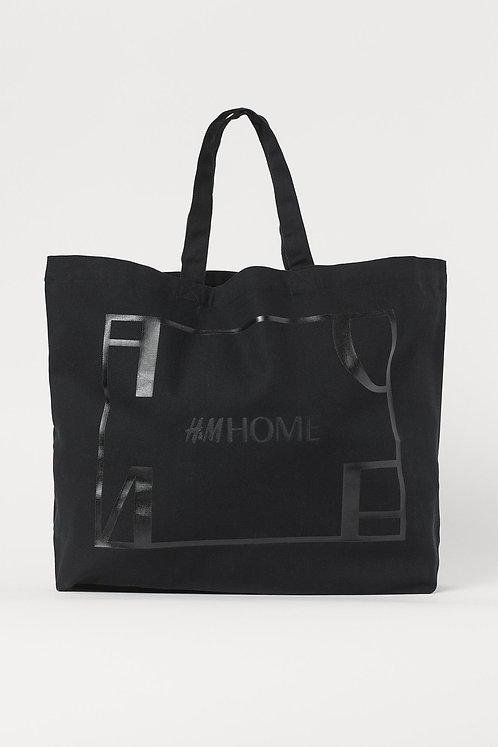 Cotton canvas shopper, Black by H&M