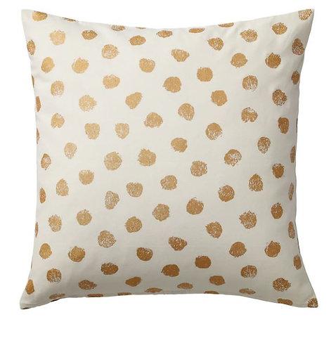 SKÄGGÖRT Cushion (Throw) cover, White/Gold-colour 20″ x 20″ – IKEA
