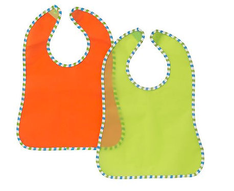 KLADD Randig Bib 2 PK of Splash Proof Wipe Clean Baby Feeding Bibs – IKEA
