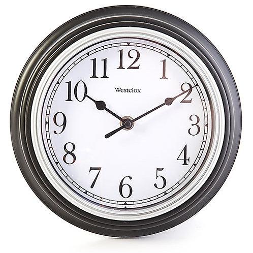 Simplicity Black Round Wall Clock, Westclox