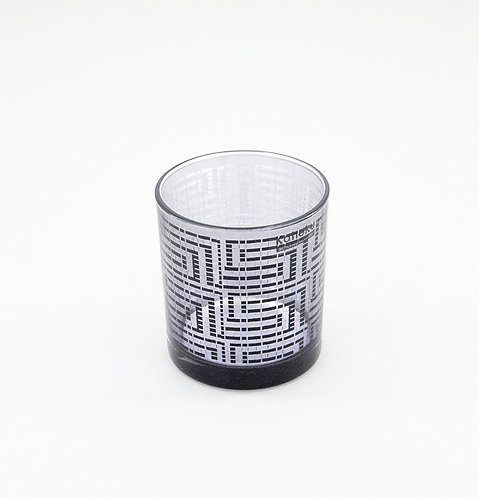 Table Light Candle Holder, Black/Silver by Kaheku