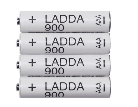 LADDA Rechargeable battery HR03 AAA 1.2V by IKEA