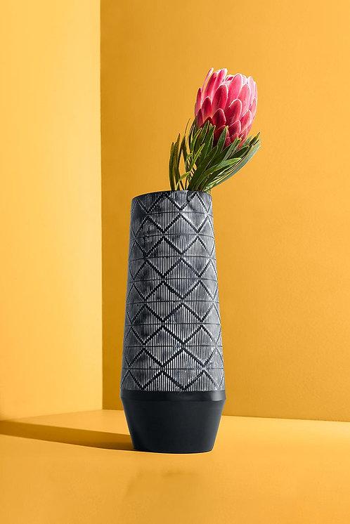 Slim Shape Vase, Black/White by Tchibo