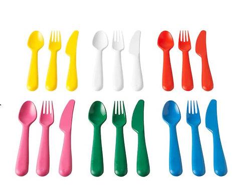 KALAS 18-piece cutlery set, multicolour – IKEA