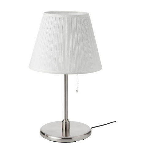 MYRHULT / KRYSSMAST Table lamp, white/nickel-plated by IKEA